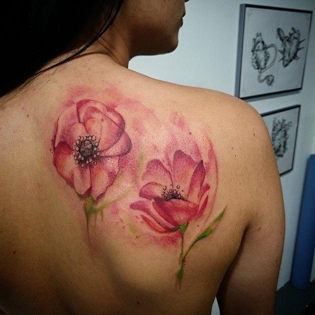 Tattoo floral de l\u0027apres,midi, merci megane france Toulouse