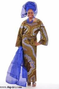 Exclusive Hand-made African Print Wrapper Attire with Sequins-DP