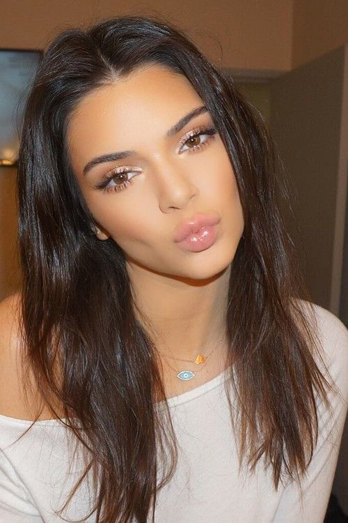Kendall Jenner Straight Dark Brown Messy Hairstyle | Steal Her Style