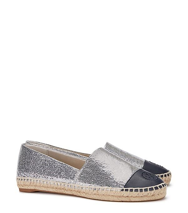 a3219e7dc00b Tory Burch Metallic Color-block Espadrille