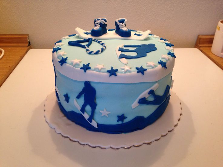 Snowboard Cake Images