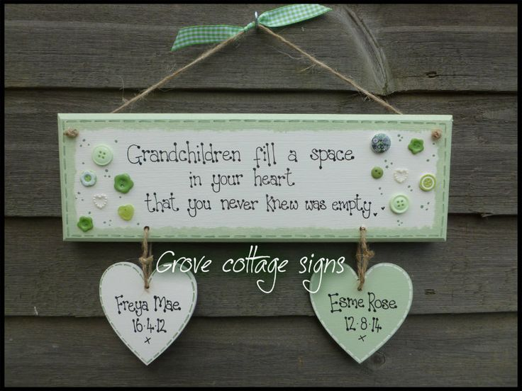 Completed order  www.grovecottagesigns.co.uk #handmade #grovecottage #grandparents  #mothersday #keepsakes #woodengifts