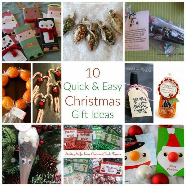 10 Quick & Easy Christmas Gift Ideas