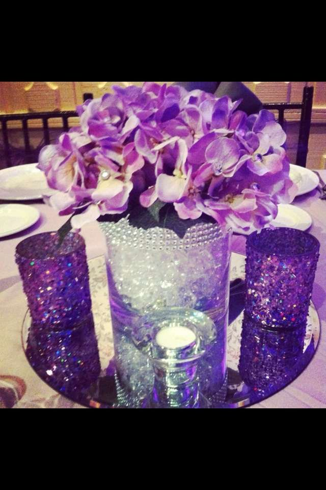 Sweet 16 Table Decoration Ideas sweet 16 centerpiece with feathers Birthday Party Ideas Quinceanera Centerpiecesquinceanera