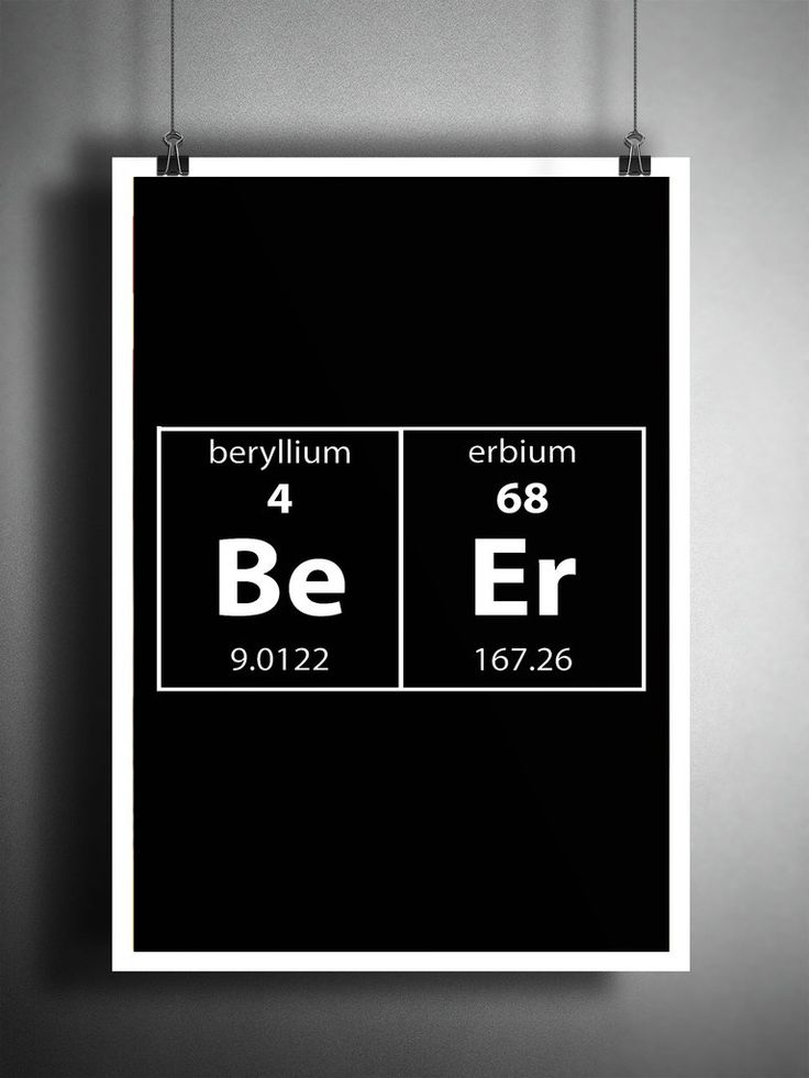 291 best periodic table images on pinterest chemistry science periodic table art beer wall art funny nerdy art beer gift mancave urtaz Choice Image