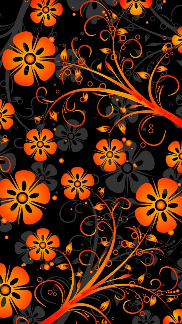 Nice Orange Abstract Flowers 640 x 1136 Wallpapers available for free download. 18