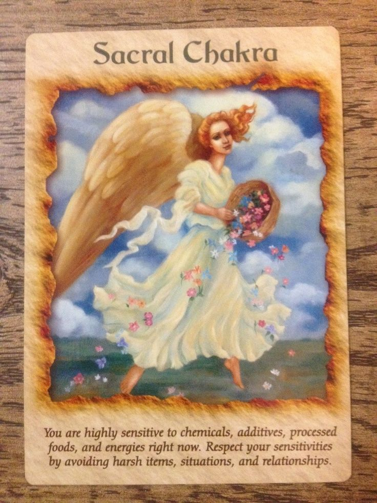 Angel therapy guidance sacral chakra angel therapy