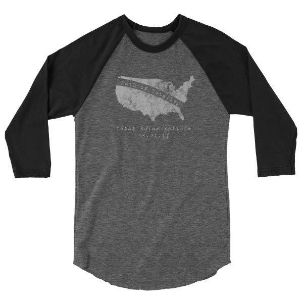 Path of Totality Shirt - Totality Shirt Raglan - Solar Eclipse Path of Totality - Solar Eclipse Tshirt - Solar Eclipse Shirt - FREE SHIPPING by wanderandthrive on Etsy