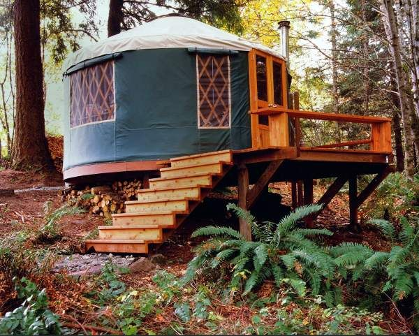 A girl can dream....one of these on the prairie...solar/wind powered and composting toilet.