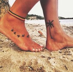 Palm tree ankle tattoo                                                                                                                                                                                 More