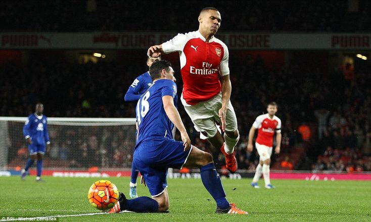 Gareth Barry was sent off for this foul on Kieran Gibbs in stoppage time as Everton ended ...