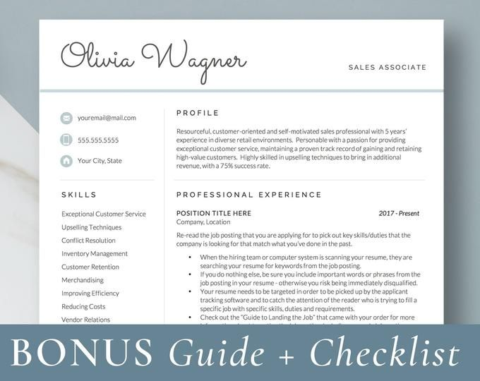 Professional Resume Templates Modern Cv Templates By Getlanded