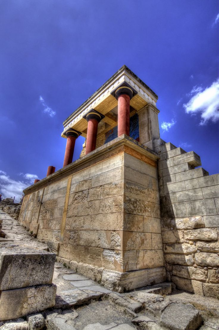 At Knossos Palace, Crete