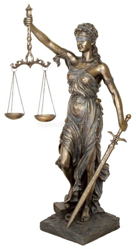 New 69 Inch Life Sized Lady Justice Painted Bronze Finish Statue Resin Lawyer Lady Justice