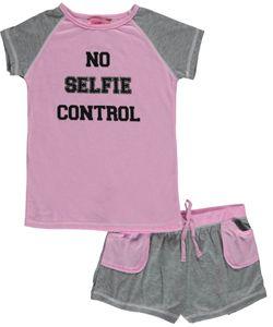 """Katnap Kids Big Girls' """"No Selfie Control"""" 2-Piece Pajamas (Sizes 7 – 16) - CookiesKids.com"""