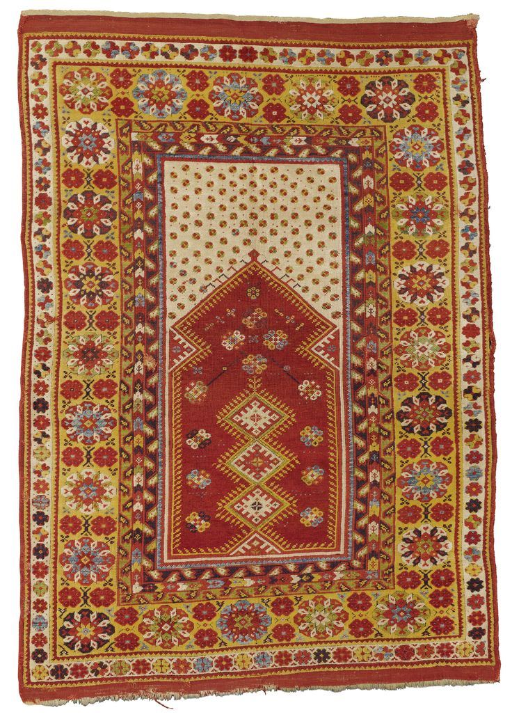 Melas prayer rug, Southwest Anatolia  approximately 6ft. by 4ft. 2in. (1.83 by 1.27m.)  mid-19th century I Sotheby's