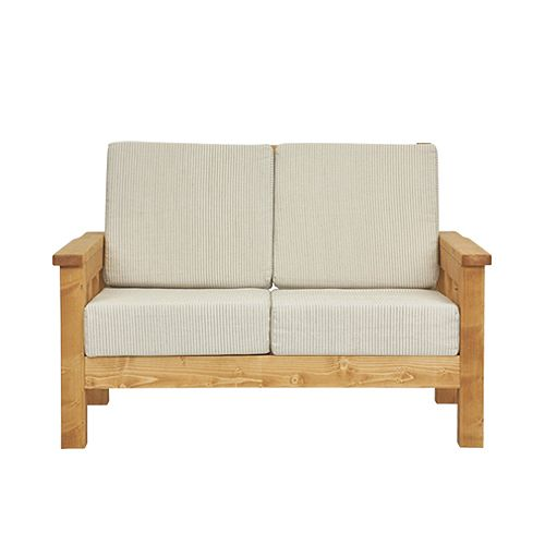 Country furniture-sofa — bench sofa 2 P ( two seat & painted )  ナチュラルラインクッション cover set - 15 Best Living Room Images On Pinterest Sofas, Ideas And Sofa