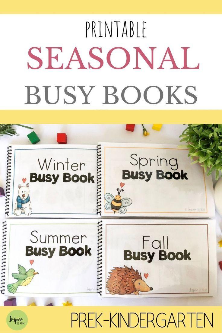 Printable Seasonal Busy Book Bundle Busy Book Homeschool Preschool Activities Preschool Activities Toddler [ 1104 x 736 Pixel ]