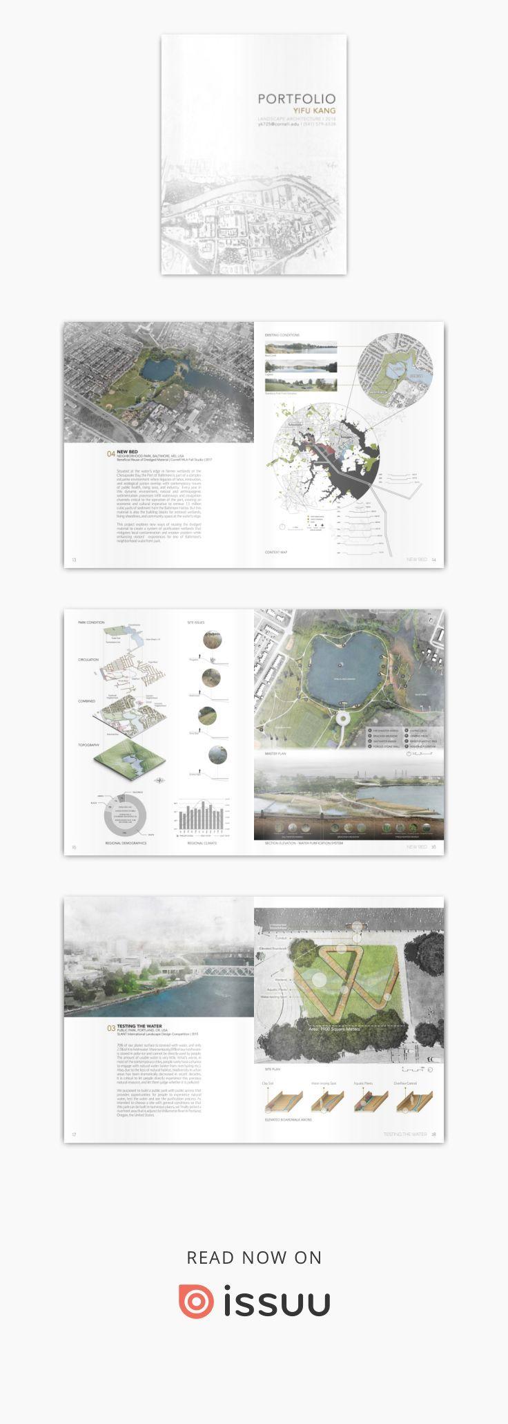 Yifu Kang Landscape Architecture Portfolio Cornell MLA 2018  2018 MLA | Cornell University; 2016 BLA | University of Oregon