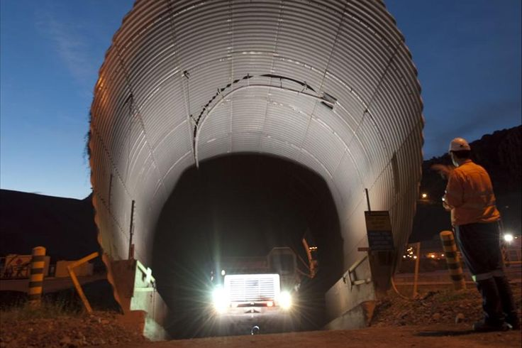 The decline portal leading underground to the Argyle diamond mine near Kununurra