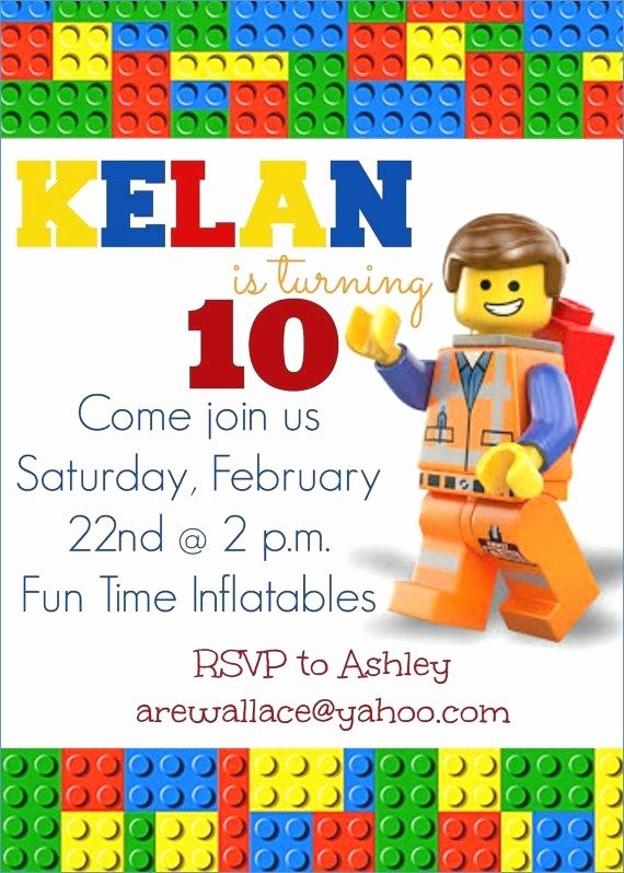Lego Friends Birthday Party Invitations Printable Beautiful Lego