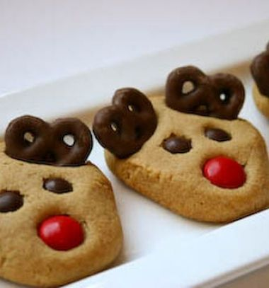 Peanut butter reindeer cookies // Mogyoróvajas rénszarvas Rudolf sütemények // Mindy - craft tutorial collection