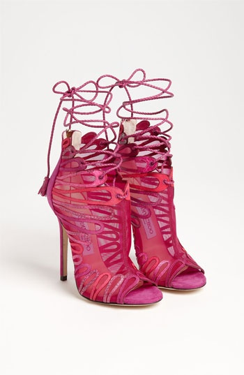 @Suzanne, with a Z Garcia  these totally made me think of you  Jimmy Choo 'Kairo' Mesh Bootie.  Wowzahs...  =)