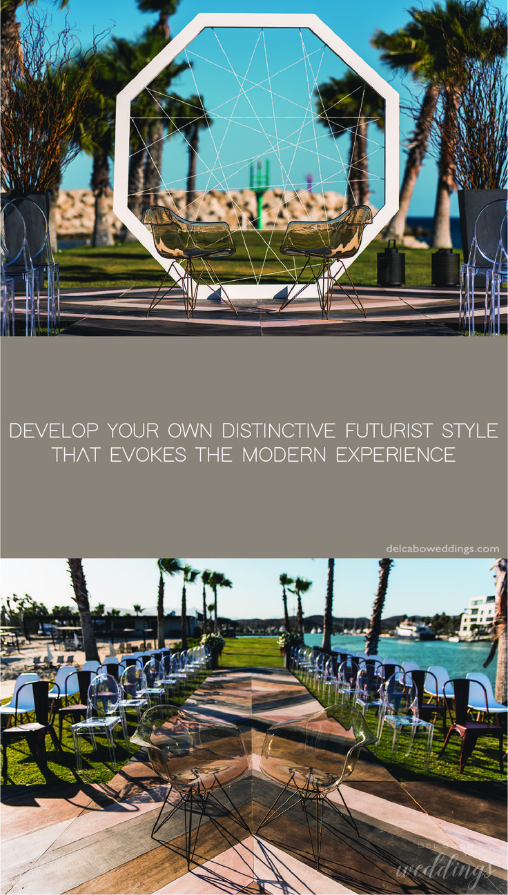 Futuristic wedding ideas in Cabo! We make modern ceremonies, receptions and more! Visit our blog for more ideas!