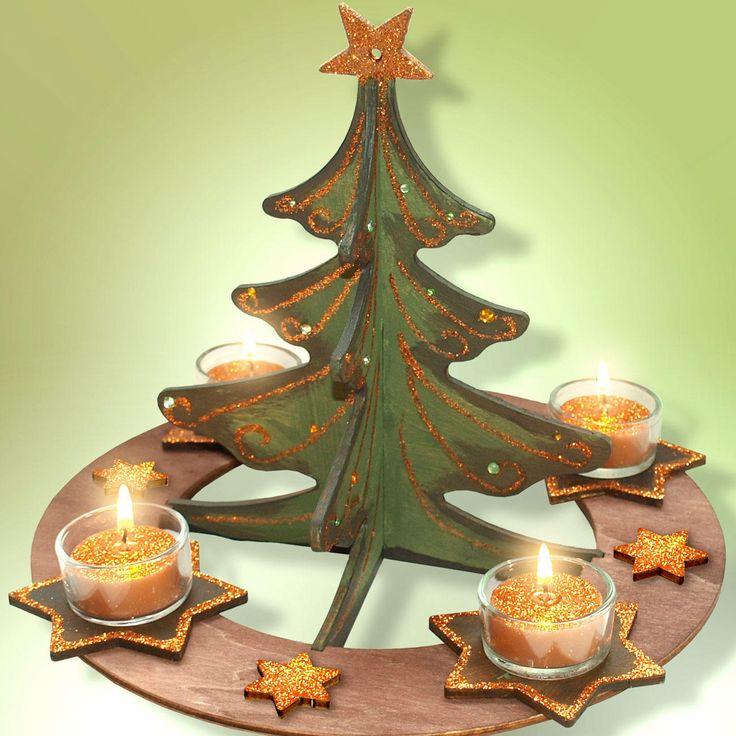 Adventskränze aus Holz - Trägermaterial zum Gestalten weihnachtlicher Dekorationen « Trägermaterial zum Verzieren « Weihnachtliches Basteln « Basteln im Junghans-Wolle Creativ-Shop kaufen