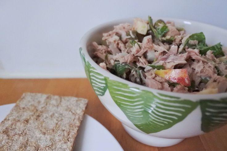 I Love Health | Tonijnsalade met appel, spinazie en kappertjes | http://www.ilovehealth.nl