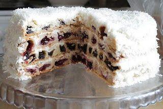 "Торт ""Вишня в снегу"""