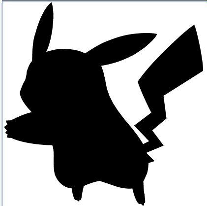 Pikachu Silhouette by Ba-ru-ga on DeviantArt