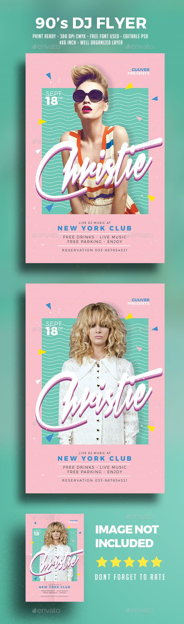 90's DJ Flyer Template PSD