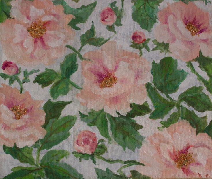 Buy Peonies Often Equal Roses In Beauty., Oil Painting By Zulfiya Gaynanova  On Artfinder