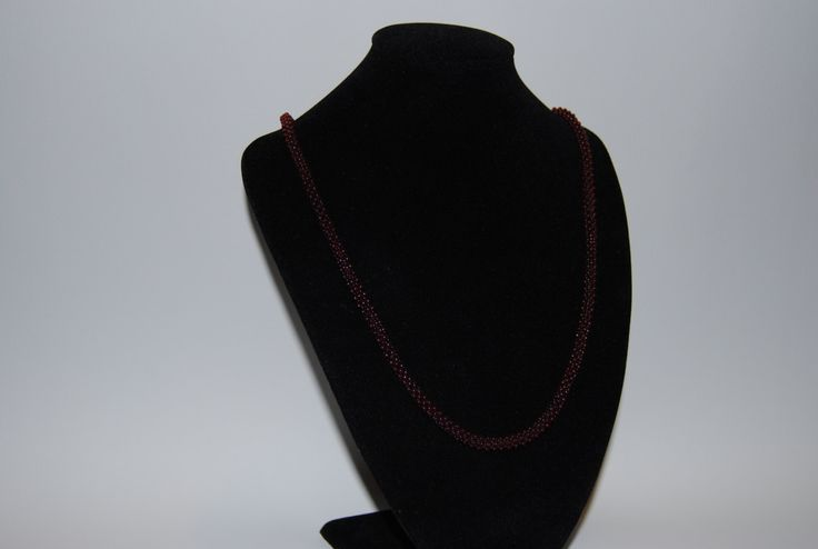 Beaded Necklace made with TOHO beads - handmade using the Cubic Right Angle Weave (C-RAW) technique by BeaduBeadu on Etsy