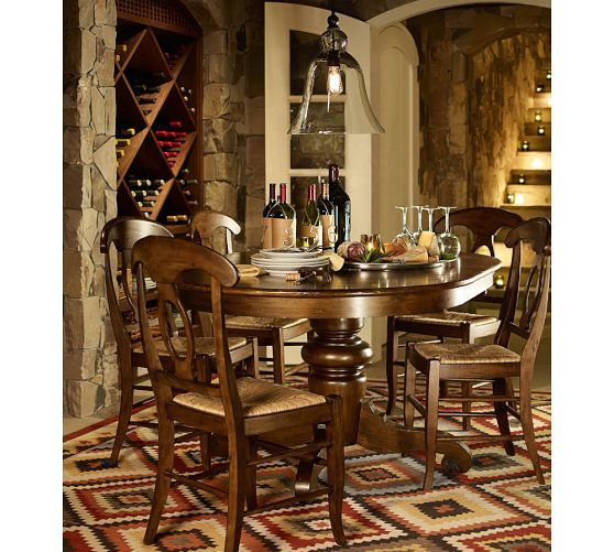 Tivoli Extending Pedestal Dining Table Round Top And