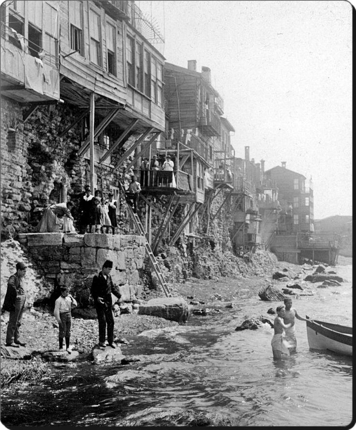 Samatya sahili - 1900'ler doldurulmadan once cok guzelmiş balkonlar harika