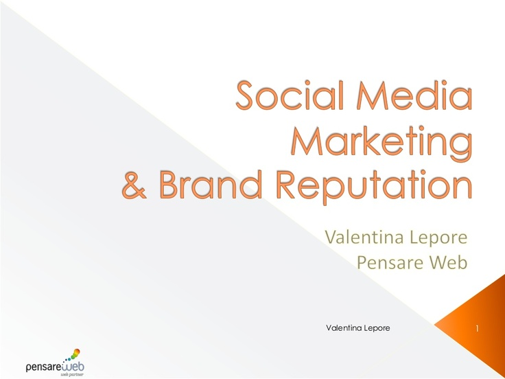 social-media-marketing-e-brand-reputation-per-il-turismo by Valì Jolie via Slideshare