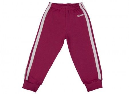 Pantalonaşi cu elastic în talie purpuriu-alb 100% bumbac | Cod produs: NIG128
