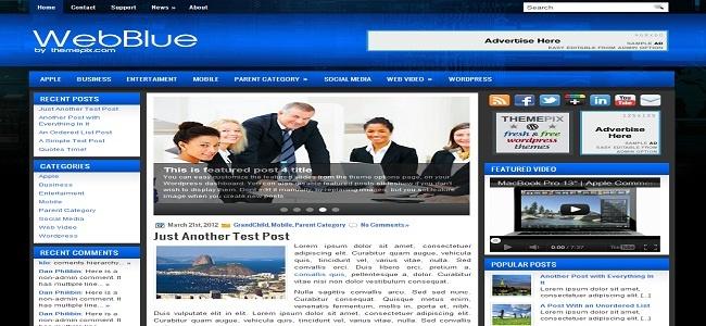 WebBlue Wordpress Theme