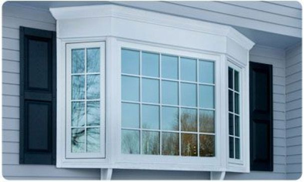 Bay Windows Vinyl Bay Window Replacement Windows Harvey Window Manufacturing Windowboxes Ba Exterior House Remodel Home Exterior Makeover Bay Window Exterior