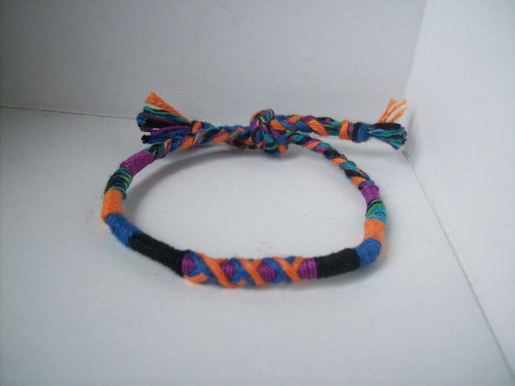 bracelet fin tressé pour enfant 6/12 ans en coton ,bracelet garçon : Bijoux enfants par jungleflower