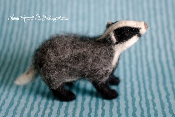 Needle felting by SaniAmani (part VII - badger) | SaniAmaniCrafts