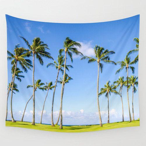 Palm Bäume Tapeten Hawaiian-Tapeten Wand hängen von Beachlovedecor