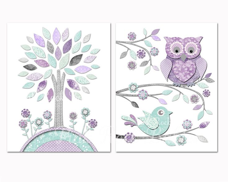 Nursery art toddler room decor Baby girl wall artwork for kids mint purple owl baby shower decoration gift playroom poster pastel print by PinkRockBabies on Etsy https://www.etsy.com/listing/209371225/nursery-art-toddler-room-decor-baby-girl