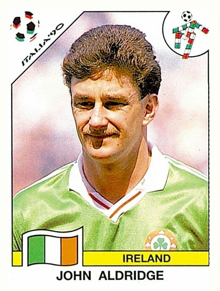 436 John Aldridge - Ireland - FIFA World Cup Italia 1990