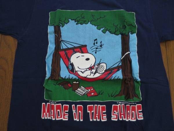USビンテージ70SスヌーピーTシャツ2/ピーナッツ・スプルース_画像1