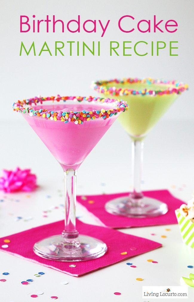 Simple Birthday Cake Martini Recipe