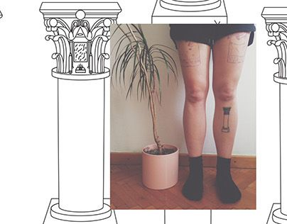 Corinthian column tattoo