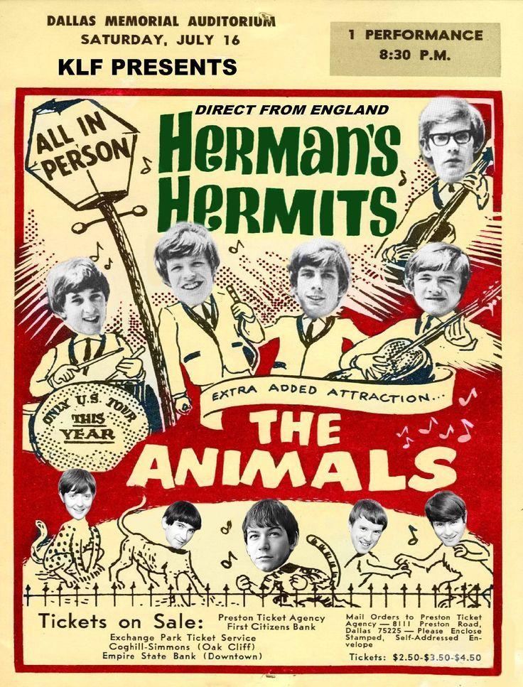 HERMAN'S HERMITS CONCERT POSTER